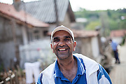 Portrait of a man living in the Roma part of the city of Crnik, Macedonia.