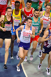 Great Britain's Chris O'Hare competes in the Men's 3000m Heat 2 during day one of the European Indoor Athletics Championships at the Emirates Arena, Glasgow.