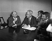 Wilson meets Brendan Corish, Labours TDs.02/12/1971