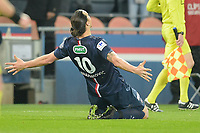 joie de Zlatan Ibrahimovic (PSG) apres son second but