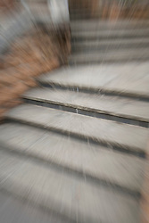 Blurry image of steps