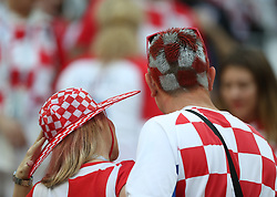 MOSCOW, July 11, 2018  Fans of Croatia are seen prior to the 2018 FIFA World Cup semi-final match between England and Croatia in Moscow, Russia, July 11, 2018. (Credit Image: © Cao Can/Xinhua via ZUMA Wire)