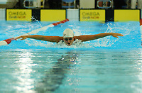 NM svømming senior/04032004/ Grottebadet i Harstad/ Natalie Kvernberg Kristiansund SLK/100m butterfly damer forsøk/<br /> FOTO: KAJA BAARDSEN/DIGITALSPORT