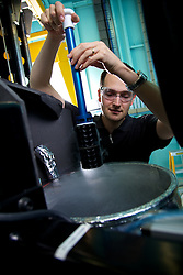 Macromolecular beamline, Australian Synchrotron.   staff, Tom Caradoc-Davies, at Macromolecular beamline, removing stage from nitrogen