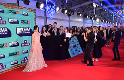 Camila Cabello attending the MTV Europe Music Awards 2017 held at The SSE Arena, London.