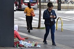 May 3, 2019 - SãO Paulo, Brazil - SÃO PAULO, SP - 03.05.2019: AUMENTO DA POBREZA NO BRASIL - According to the World Bank, the number of people living in poverty has risen by 7.3 million since 2014 to 21% of the population. In the photo person in extreme poverty asks for help on Av. Paulista, this Friday (3) (Credit Image: © Roberto Casimiro/Fotoarena via ZUMA Press)