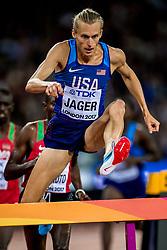 08-08-2017 IAAF World Championships Athletics day 5, London<br /> Evan Jager USA (3000m steeple)