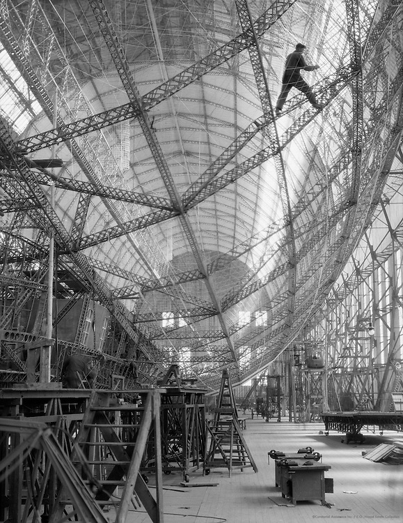 Construction of the 'Graf Zeppelin', Zeppelin Werke, 1928