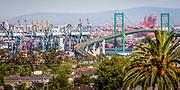 Vincent Thomas Bridge from Long Beach to San Pedro