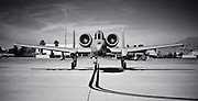 """A-10 Thunderbolt on the ramp during a """"Red Flag"""" exercise at Nellis Air Force Base, near Las Vegas, Nevada."""