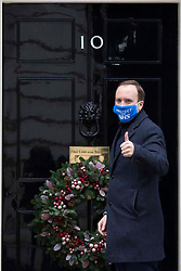 © Licensed to London News Pictures.02/12/2020. London, UK. Secretary of State for Health and Social Care Matt Hancock arrives at Downing Street. Photo credit: Marcin Nowak/LNP