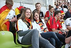 23.06.2010, Olympiapark, Muenchen, GER, FIFA Worldcup, Puplic Viewing Ghana vs Deutschland  im Bild weiblichr Fans auf der Trib¸ne, EXPA Pictures © 2010, PhotoCredit: EXPA/ nph/  Straubmeier / SPORTIDA PHOTO AGENCY