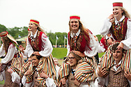 12th Youth Song and Dance Celebration, Tallinn, Estonia. Dance Celebration, evening performance in Kalev stadium. © Rudolf Abraham