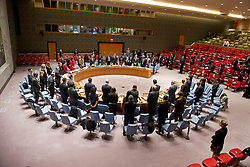 05.12.2013, Johannesburg, ZAF, Nelson Mandela, der Gigant des Humanismus ist im Alter von 95 Jahren in seinem Haus an den Folgen einer Lungenentzuendung gestorben, im Bild The United Nations Security Council observes, minute of silence upon the news of the death of former South African President Nelson Mandela // Nelson Mandela a giant of humanism died in his house in Johannesburg, South Africa on 2013/12/05. EXPA Pictures © 2013, PhotoCredit: EXPA/ Photoshot/ Eskinder Debebe<br /> <br /> *****ATTENTION - for AUT, SLO, CRO, SRB, BIH, MAZ only*****