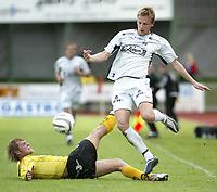 Fotball 5. juni 2005 - MOSS - SOGNDAL Moss<br /> Tommy Øren Sogndal<br /> Foto Kurt Pedersen