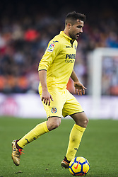 December 23, 2017 - Valencia, Spain - Mario Gaspar during the match between Valencia CF against Villarreal CF , week 17 of  La Liga 2017/18 at Mestalla stadium, Valencia, SPAIN - 17th December of 2017. (Credit Image: © Jose Breton/NurPhoto via ZUMA Press)