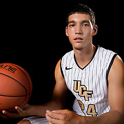 Guard Steven Haney poses during the Knights media day event at the University of Central Florida CFE Arena on Monday, October 7, 2013 in Orlando, Florida. (AP Photo/Alex Menendez)