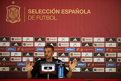 September 11, 2018 - Elche, Spain - Luis Enrique of Spain in press conference after the UEFA Nations League football match between Spain and Croatia at Martinez Valero Stadium in Elche, Spain on September 8, 2018. (Credit Image: © Jose Breton/NurPhoto/ZUMA Press)