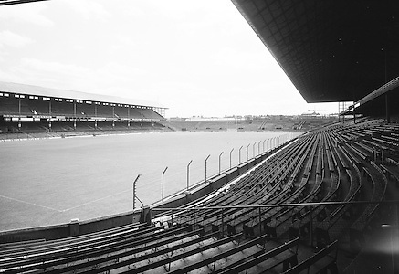 Views of Croke Park from the Nally stand 16 on the 20th of July 1974.