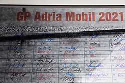 Starts signitures during cycling race 6th Grand Prix Adria Mobil 2021, on March 28, 2021, in Novo mesto, Slovenia. Photo by Vid Ponikvar / Sportida