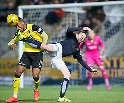 Livingston Myles Hippolyte and Falkirk's Blair Alston. Falkirk 2 v 0 Livingston, Scottish Championship game played 29/12/2015 at The Falkirk Stadium.