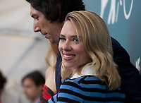 Scarlett Johansson and Adam Driver  at the photocall for the film Marriage Story at the 76th Venice Film Festival, on Thursday 29th August 2019, Venice Lido, Italy.