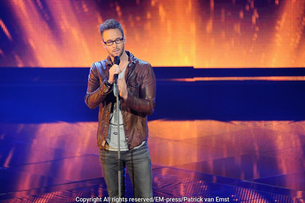 Eerste Live Show van de Voice of Holland in Studio 22 in Hilversum.<br /> <br /> Op de foto:  Charly Luske