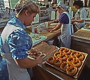 Pretzel making, Amish and Mennonite, Broad Street Farmers' Market, Midtown, Harrisburg, PA