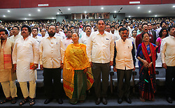 April 18, 2018 - Guwahati, Assam, India - Different misters of Assam during the Ceremonial Launch of Atal Amrit Abhiyan. (Credit Image: © David Talukdar/Pacific Press via ZUMA Wire)