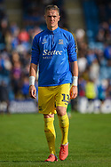 Southend United goalkeeper Nathan Bishop (13) after the EFL Sky Bet League 1 match between Gillingham and Southend United at the MEMS Priestfield Stadium, Gillingham, England on 13 October 2018.