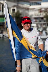 Magnus Augustson, Artemis (SWE) races Mascalzone Latine (ITA), race day 5, Round Robin 1. Auckland, New Zealand, March 14th 2010. Louis Vuitton Trophy  Auckland (8-21 March 2010) © Sander van der Borch / Artemis