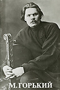 'Alexei Maximovich Peshko (1868-1936 right, known as Maxim Gorky, Russian and Soviet novelist, playwright, and political activist.A founder of the Socialist Realism literary method. and a political activist.'