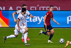 SEVILLE, SPAIN - Tuesday, November 17, 2020: Dani Olmo of Spain during the UEFA Nations League match between Spain and Germany at Estadio La Cartuja de Sevilla. (Photo by Pablo Morano/Orange Pictures via Propaganda)