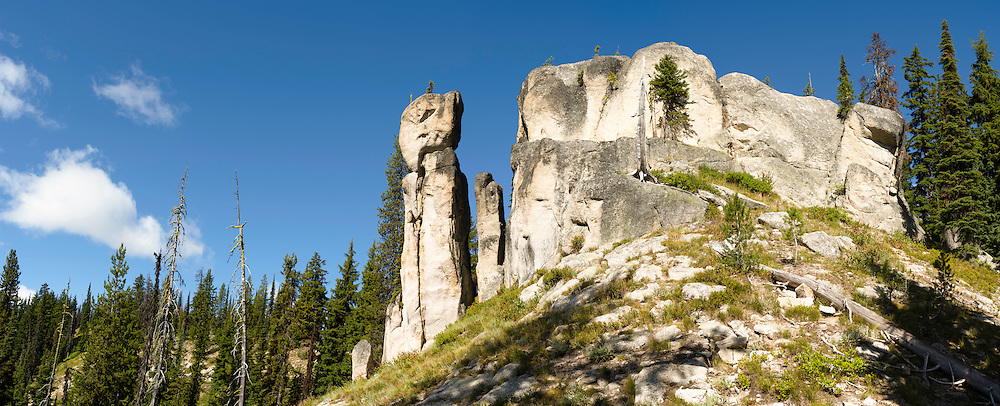 Devil's Chair, an eroded rock formation along the Lolo Trail in the Clearwater National Forest, Idaho, United States.