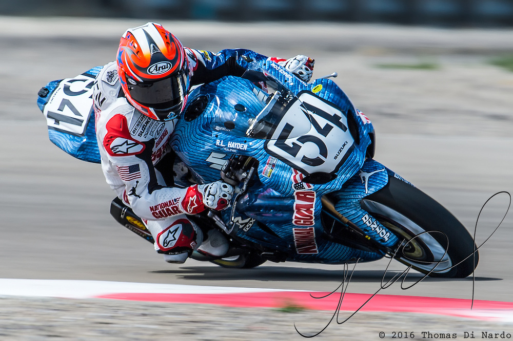 August 3, 2013 - Tooele, UT - Roger Hayden competes in Daytona Sportbike Race 1 at Miller Motorsports Park.