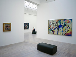 Interior of art museum K20 or Kunstsammlung at Grabbeplatz Dusseldorf Germany