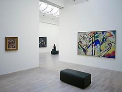 Interior of art museum K20 or Kunstsammlung at Grabbeplatz Dusseldorf Germany