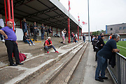 Northern Cyprus 3 v Padania 2 during the Conifa Paddy Power World Football Cup semi finals on the 7th June 2018 at Carshalton Athletic Football Club in the United Kingdom. The CONIFA World Football Cup is an international football tournament organised by CONIFA, an umbrella association for states, minorities, stateless peoples and regions unaffiliated with FIFA.