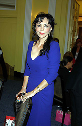 MARIE HELVIN at a lunch and fashion show by Bruce Oldfield in aid of Barnados and held at Claridges, Brook Street, London W1 on 22nd September 2004.<br /><br />NON EXCLUSIVE - WORLD RIGHTS
