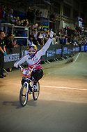 #12 (READE Shanaze) GBR wins the UCI BMX Supercross World Cup in Manchester, UK