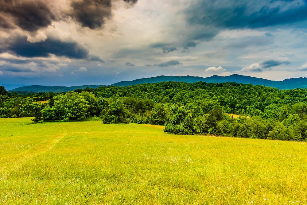 Blue Ridge Mountains, from  Blue Ridge Vineyard, Eagle Rock, Botetourt County, near Roanoke, Virginia USA.
