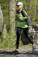 Gardiner, New York - Jayme Schultz competes in the Rock the Ridge 50-mile endurance challenge race at the Mohonk Preserve on May 4, 2013. The race is part of Mohonk's 50th anniversary celebration and a fundraiser for the preserve.