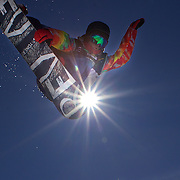 Ruo Aono, Japan, in action during the Men's Half Pipe Finals in the LG Snowboard FIS World Cup, during the Winter Games at Cardrona, Wanaka, New Zealand, 28th August 2011. Photo Tim Clayton...