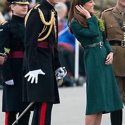 Mcc0053522.DT News. Mons Barracks Aldershot, Irish Guards' St Patricks Day Parade and presentation of shamrock by HRH The Duchess of Cambridge