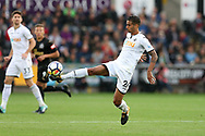 Kyle Naughton of Swansea city in action. Premier league match, Swansea city v Newcastle Utd at the Liberty Stadium in Swansea, South Wales on Sunday 10th September 2017.<br /> pic by  Andrew Orchard, Andrew Orchard sports photography.