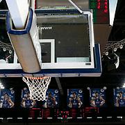 Anadolu Efes's and Torku Konyaspor's during their Turkish Basketball Spor Toto Super League match Anadolu Efes between Torku Konyaspor at the Abdi ipekci arena in Istanbul, Turkey, Monday 18, January 2016. Photo by Aykut AKICI/TURKPIX