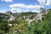 Les Baux-de-Provence, Provence, France view of the Chateau des Baux