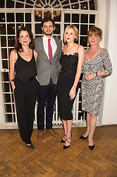 Left to right, RAQUEL CASSIDY, MICHAEL FOX, LAURA CARMICHAEL and SAMANTHA BOND at a gala dinner to celebrate 15 Years of mothers2mothers hosted by Annie Lennox held at One Marylebone, 1 Marylebone Road, London NW1on 3rd November 2015.