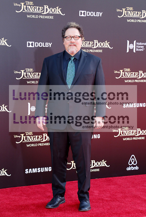 Jon Favreau at the World premiere of 'The Jungle Book' held at the El Capitan Theatre in Hollywood, USA on April 4, 2016.