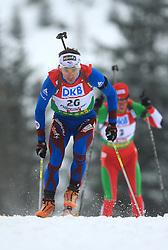 Vincent Defrasne (FRA) at Men 20 km Individual at E.ON Ruhrgas IBU World Cup Biathlon in Hochfilzen (replacement Pokljuka), on December 18, 2008, in Hochfilzen, Austria. (Photo by Vid Ponikvar / Sportida)